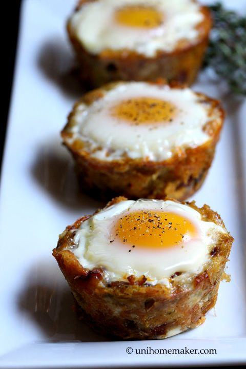 Leftover Stuffing and Chorizo Egg Cups | Cooking Breakfast | Pinterest