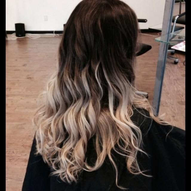 ombre dark to light hair pinterest