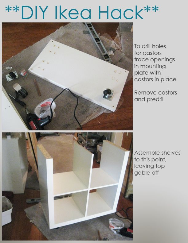 Ikea Mandal Wardrobe Craigslist ~ DIY Ikea Hack  Kitchen Island Tutorial  Construction 1