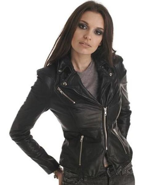Leather Jackets For Ladies Fashion Muubaa Cion Fitted Biker Jacket On