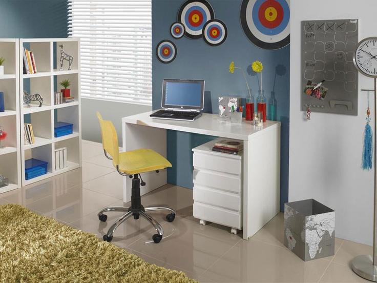 Escrivaninha Para Quarto Com Cadeira ~ Escrivaninha Delta  Branco Laqueado  Quarto de menina  Pinterest