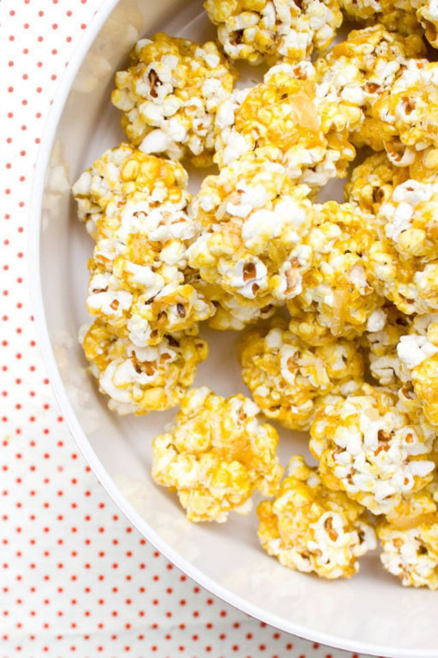 Curry-Coconut Popcorn Polka Dots | Food and Libations | Pinterest