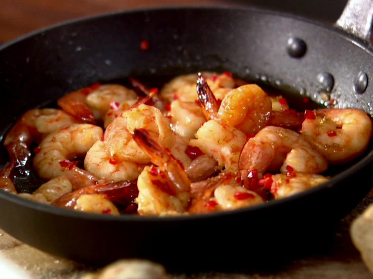 Whisky and Chili Jumbo Shrimp from CookingChannelTV.com