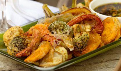 Crispy Vegetable and Shrimp Tempura | Dashrecipes.com-I've always ...