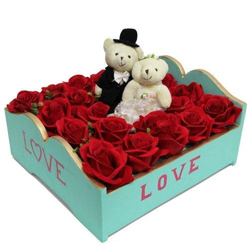 ... two cute teddy, each of 5 inches on this very special valentine day