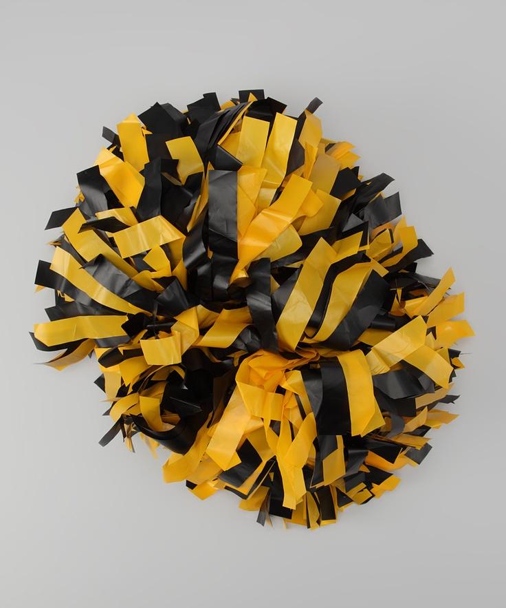 CheerZone Black & Yellow Pom-Pom
