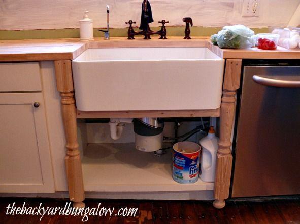 Farmhouse Sink With Legs : Farmhouse sink + table legs For the Home Pinterest