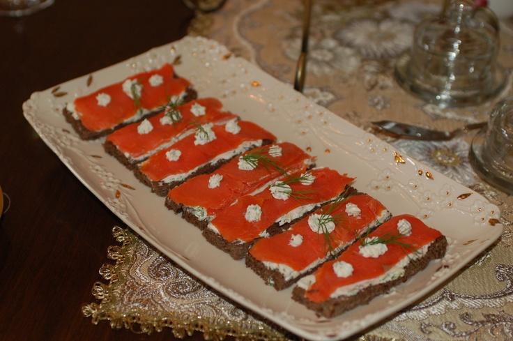smoked salmon sandwiches | high tea | Pinterest