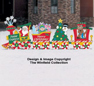 Christmas train woodcraft pattern christmas yard for Holiday yard decorations patterns