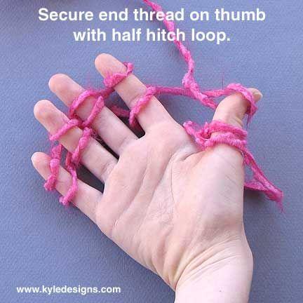 Kids Korner: How to Finger Knit - YouTube