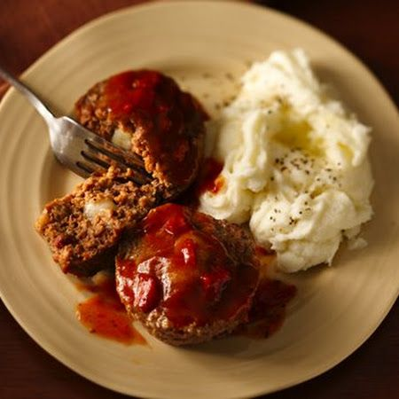 Easy Cheese-Stuffed Mini Meat Loaves | Comida | Pinterest
