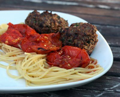Deconstructed Spaghetti and Meatballs | I love to Grill | Pinterest