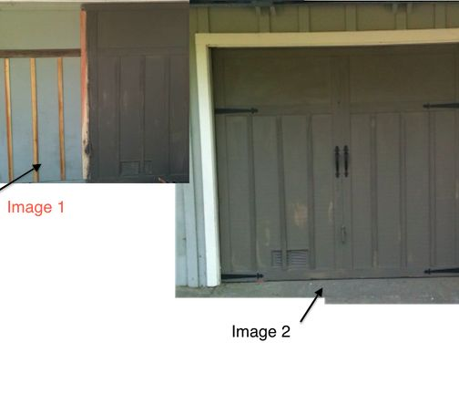 My garage doors are plain plywood lift up type decided to for Dress up your garage door