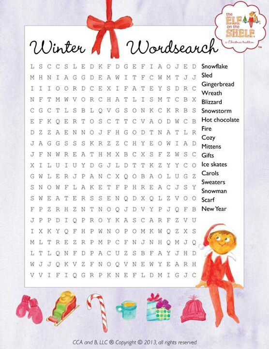 Winter Christmas Word Search