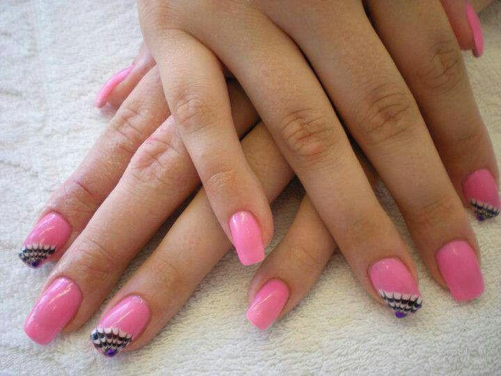 Pink with subtle design  Nail designs  Pinterest