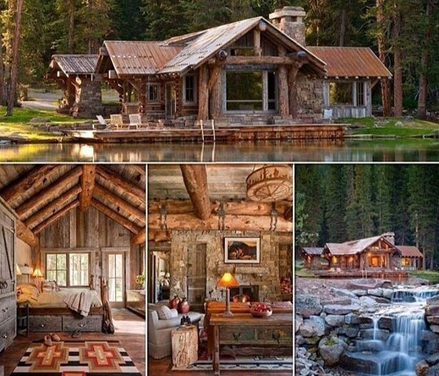 Log Home On The Lake Cabin Fever Pinterest