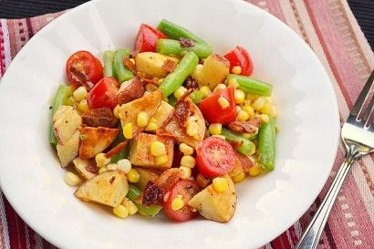 Potato, Corn and Green Bean Salad with Honey Chipotle Vinaigrette | R ...