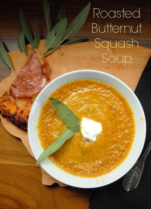 fast and delicious recipe for Roasted Butternut Squash Soup that ...