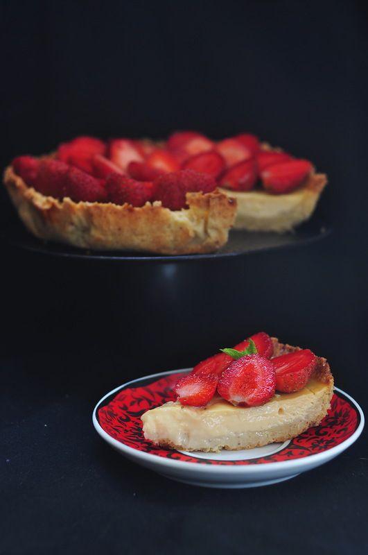 strawberry yogurt tart | { Delicious } | Pinterest
