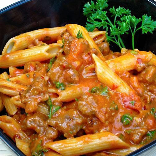Penne With Spicy Vodka Tomato Cream Sauce | Recipe