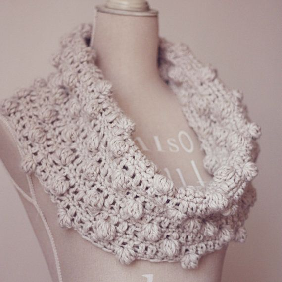 Crochet PATTERN (pdf file) - Bobble Snood or Poncho (two in one). $3 ...