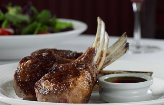 Double Cut Lamb Rib Chops with fresh mint sauce #lunch #dinner #lamb # ...