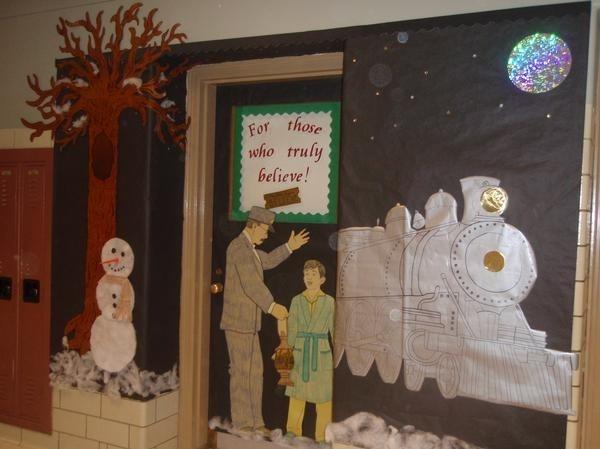 Polar Express Classroom Decoration Ideas : Polar express classroom door decoration
