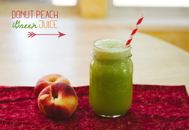 More like this: green juices , peach and juice .