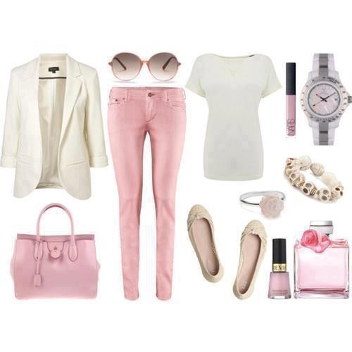 Branco e rosa.