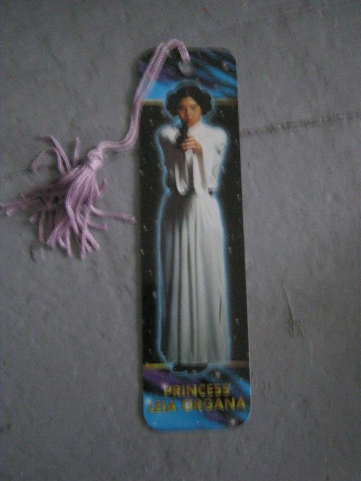 Star Wars vintage bookmark Princess Leia 1995