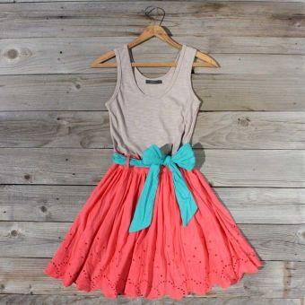Spin  Loom Dress in Watermelon...