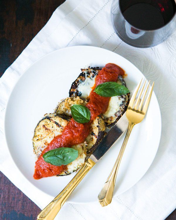 Grilled Eggplant Parmesan // A Couple Cooks. serve with a simple side ...