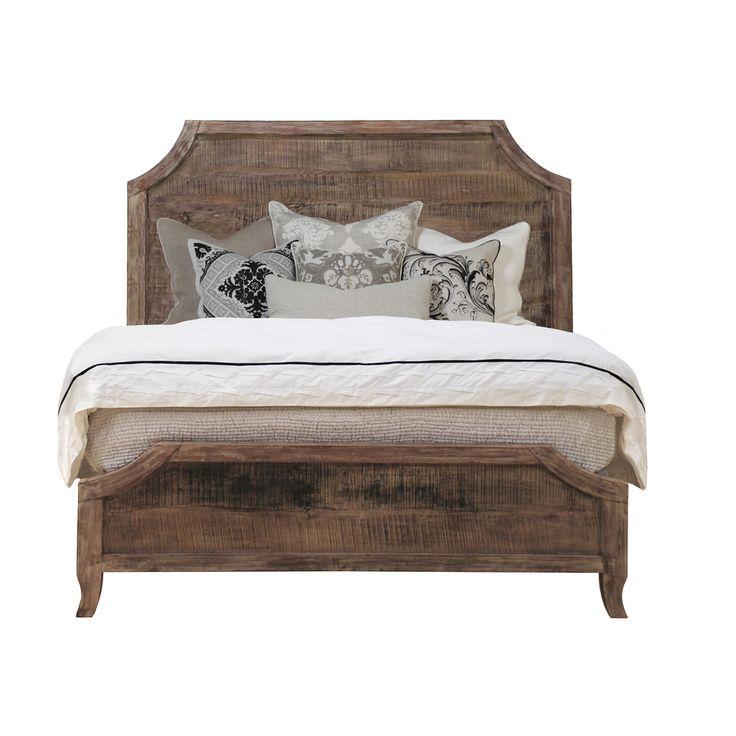 Cosmo' Antique Acacia Wood Bed | Overstock.com