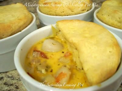 ... to make this Mediterranean Shrimp & Scallop Pot Pie for my family