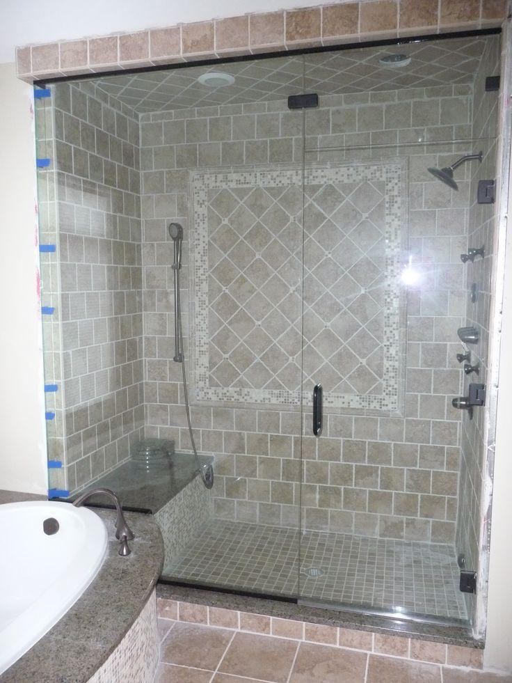 Tile steam shower google search bath pinterest for Fewell custom homes
