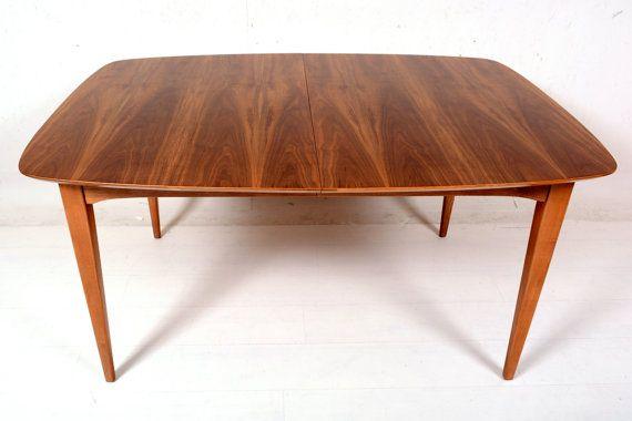 Mid century danish modern fabulous walnut dining table by midcmad