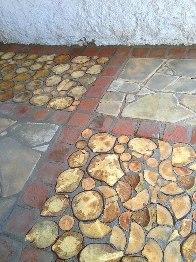 Cordwood Flooring Lovely Cordwood And Other Earthly