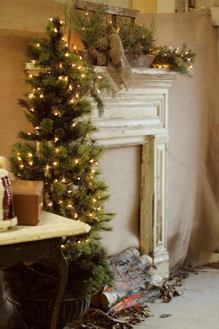 Fake Fireplace Small Tree Home Decor Pinterest