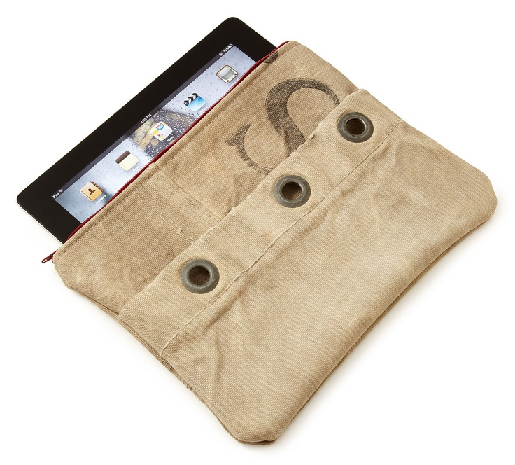 recycled mail sack ipad case $ 55 uncommon goods sure one ipad equals ...