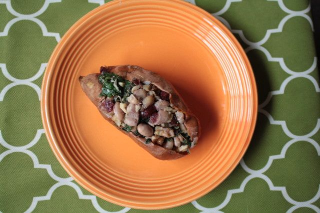 white bean cranberry and kale stuffed sweet potato better after 50