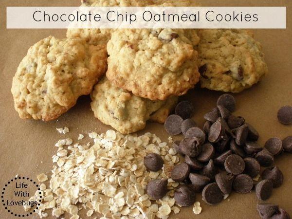 Oatmeal Chocolate Chip Cookies | FOOOOOOOOOD!!! | Pinterest