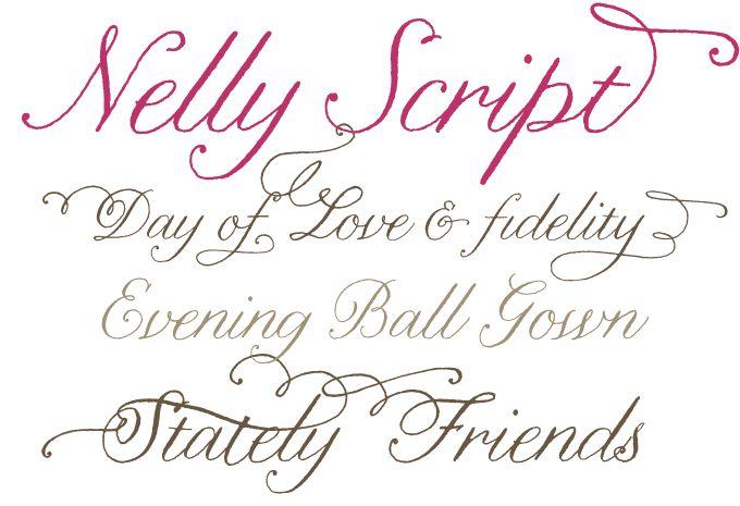 Nelly Script Flourish Font Effie Ink Pinterest