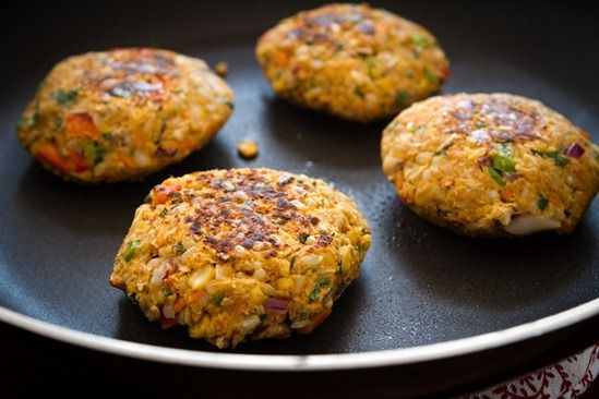 ... brown rice veggie burgers with tomato salad chickpea brown rice veggie