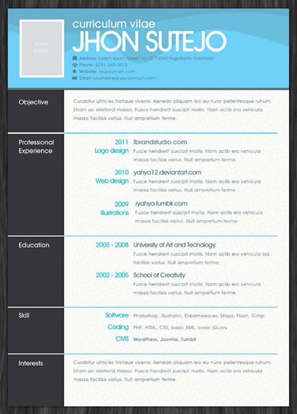 25 creative exles of free resumes psd resumes