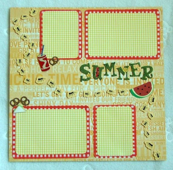 Pre-made Scrapbook Pages