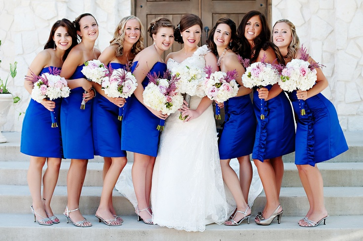 @bridesmaid dress, #cobalt blue, #wedding day