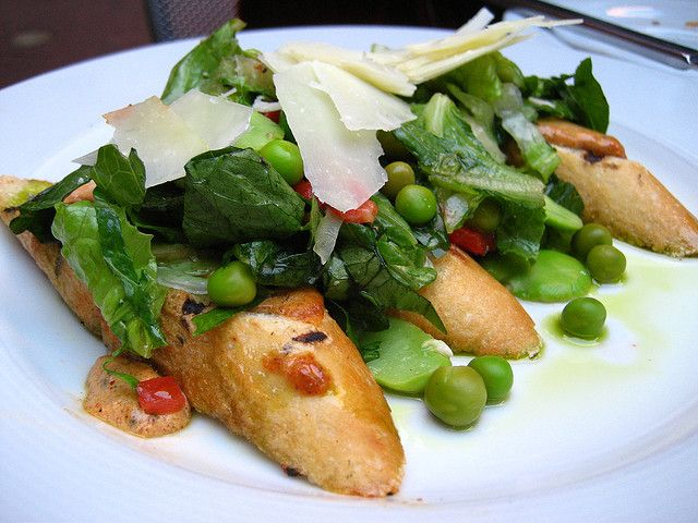Crostini with cheese, fava beans and peas, via Flickr.#Beanitos # ...
