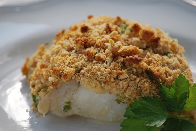 Lemon and Herb Crusted Cod Filets | delish food | Pinterest