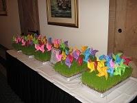 love this...pinwheels stuck in grass