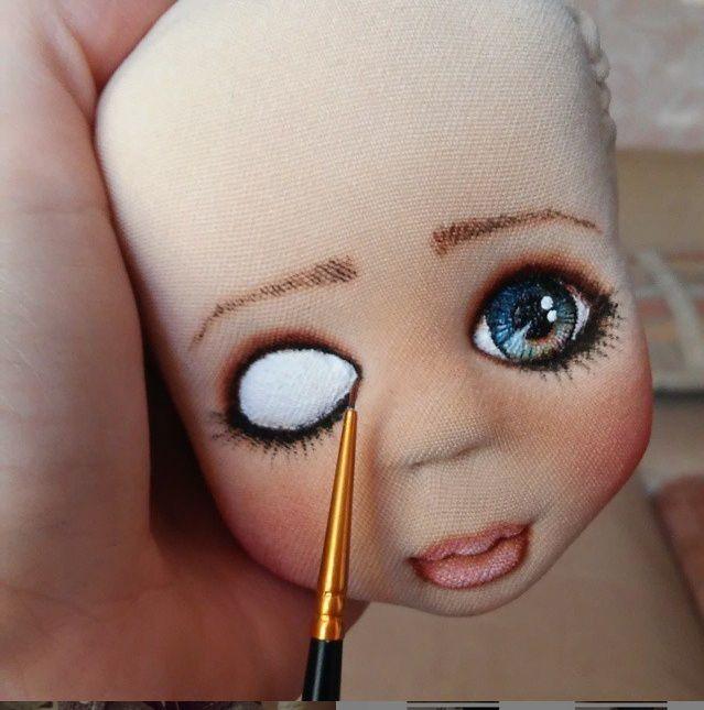 Куклы своими руками нарисовать лицо 304
